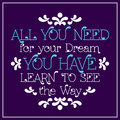 All You Need For Your Dream, Youhave.  Stock Images - 61066174