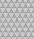 Vector Modern Seamless Sacred Geometry Pattern Hexagon, Black And White Abstract Stock Photo - 61066730