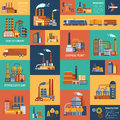 Icons Set With Different Types Of  Industrial Stock Photo - 61068330