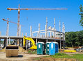 Tower Cranes At The Construction Site Royalty Free Stock Photo - 61075395