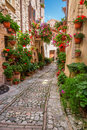 Porch In Small Town In Italy In Sunny Day Royalty Free Stock Photos - 61077398