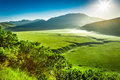 Wonderful Sunrise In The Castelluccio, Umbria Royalty Free Stock Photography - 61078917