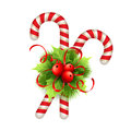 Christmas Decoration With Holly Leaves, Bow  And Stock Photos - 61079143