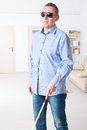 Blind Man Stock Images - 61081814