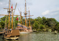 Jamestown Settlement British Sailing Ships Stock Photography - 61085522