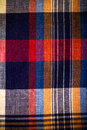 Close Up Multicolor Plaid Fabric Texture For Background. Toned Stock Photography - 61095992