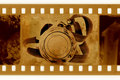 Old 35mm Frame Photo With Medal And Ribbon Royalty Free Stock Photos - 6119058
