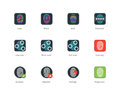 Fingerprint Types And Scanning Color Icons Stock Photography - 61100052