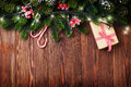 Fir Tree Branch With Christmas Lights Stock Photo - 61109160