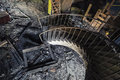 Old Rusty Spiral Stairway Going Down Stock Photos - 61109613