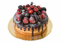 Delicious Cake With Strawberries And Chocolate Biscuits. Royalty Free Stock Images - 61120589