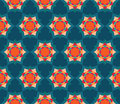 Vector Modern Seamless Colorful Geometry Petal Flower Mandala Pattern, Color Blue Abstract Stock Photos - 61129493