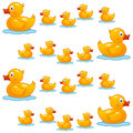 Rubber Duck Family Seamless Pattern Royalty Free Stock Images - 61142339