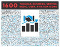 Acquisition Graph Icon With Large Pictogram Royalty Free Stock Photography - 61147347