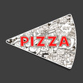 Pizza Hand Drawn Title Design Vector Illustration Royalty Free Stock Image - 61166446