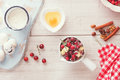 Cranberry, Apple And Walnut Tart Ingredients Royalty Free Stock Photo - 61167335