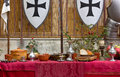 Decked Table At A Historical Reenactment Royalty Free Stock Photo - 61176965