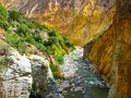 Colca River On The Bottom Of Canyon Royalty Free Stock Photo - 61194225