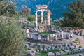 Ruins Of An Ancient Greek Temple Of Apollo At Delphi, Greece Royalty Free Stock Images - 61200749