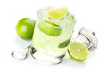 Classic Margarita Cocktail With Salty Rim Stock Photography - 61203942