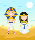 Egypt Costume Cartoon Character Couple Royalty Free Stock Photos - 61224818