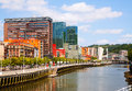 Dwelling Houses At Embankment Of   River . Bilbao Stock Photo - 61229330