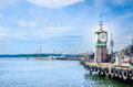 Famous Clock Tower In Oslofjord, Oslo, Norway Royalty Free Stock Image - 61241026