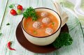 Soup With Meat Balls Stock Photo - 61242930