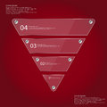 Infographic Template With Triangle From Four Glass Parts On Red Royalty Free Stock Photo - 61258785