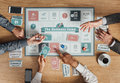 Business People Playing A Board Game Royalty Free Stock Images - 61259759