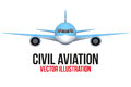 Front View Of Civil Aircraft Stock Images - 61267044