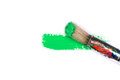 Green Stroke Of The Paint Brush Royalty Free Stock Photos - 61276248
