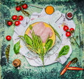 Chicken Breast With String Bean And Ingredients For Cooking On Rustic Wooden Background, Top View Stock Photography - 61316772