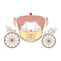 Vector Wedding Retro Carriage With Curls On White Stock Photo - 61318630