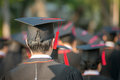 Back Of Graduates During Commencement. Stock Photography - 61322602