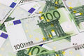 Money Background - One Hundred Euro Bills Banknotes Royalty Free Stock Photography - 61329807