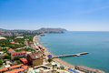 The Top View On The City Sudak, Crimea, Sky And Sea. Royalty Free Stock Image - 61338116