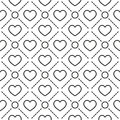 Hearts Stripped Geometric Seamless Pattern Royalty Free Stock Photography - 61342677