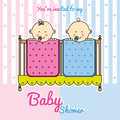 Twins Baby Shower Stock Photo - 61345010