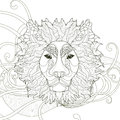 Majestic Lion Coloring Page Royalty Free Stock Images - 61347059