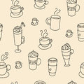 Coffee Cups Colorful Cute Seamless Pattern Royalty Free Stock Photos - 61349208