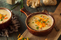 Homemade Beer Cheese Soup Stock Image - 61350071