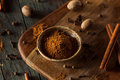 Organic Raw Pumpkin Spice Stock Images - 61350404