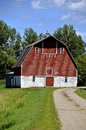 Front Of A Hip Roofed Barn Stock Photography - 61364032