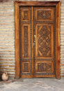 Wooden Decorated Door With Elegant Carving Stock Photo - 61370750