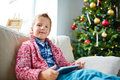 Boy With Touchpad Royalty Free Stock Image - 61385106