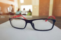 Eye Glasses Placed On A Blank Paper Royalty Free Stock Image - 61386736