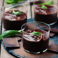 Chocolate Mousse With Basil Royalty Free Stock Photography - 61387297