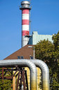 Pipes And Smoke Stack Of The Power Station Royalty Free Stock Image - 61389786