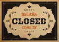 Closed Sign Royalty Free Stock Image - 61402296